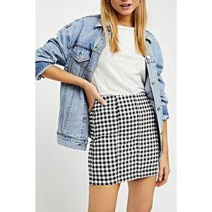 • Free People• Black Gingham Mini Skirt
